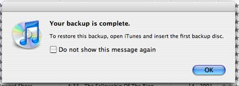 iTunes 7 backup done