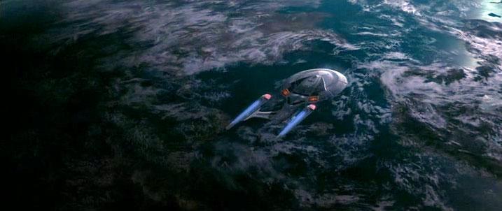 Enterprise over Baku planet