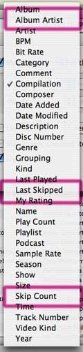 iTunes 7 smart playlists