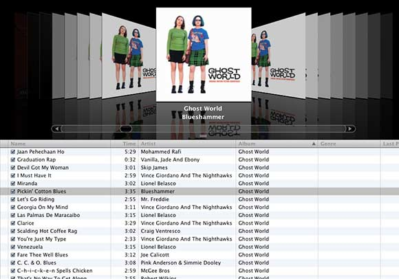 how to use cover flow in itunes pc