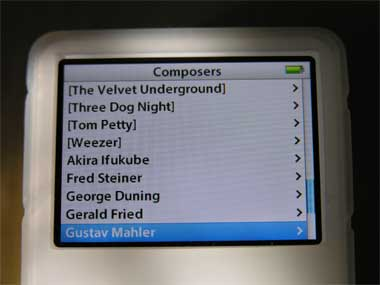 neatly organized ipod composers