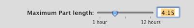 audiobook builder max part length